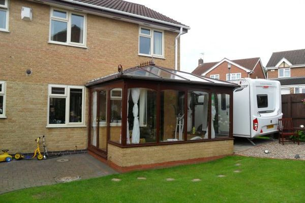 Before Edwardian Style Tiled Warm Roof Conservatory