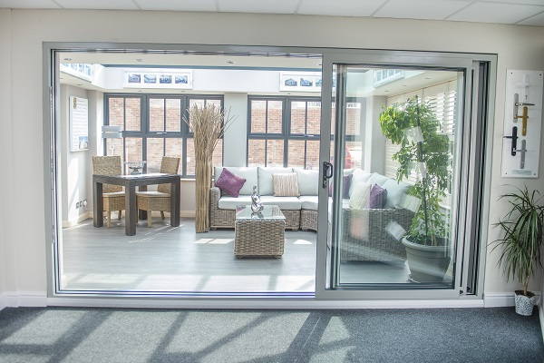 Aluminium Triple Track Patio Door